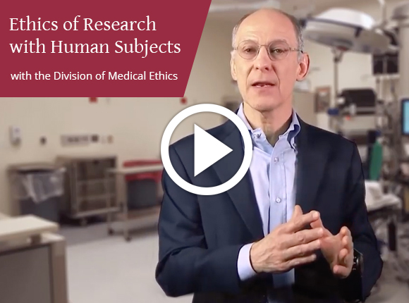 Video still from Ethics of Research with Human Subjects