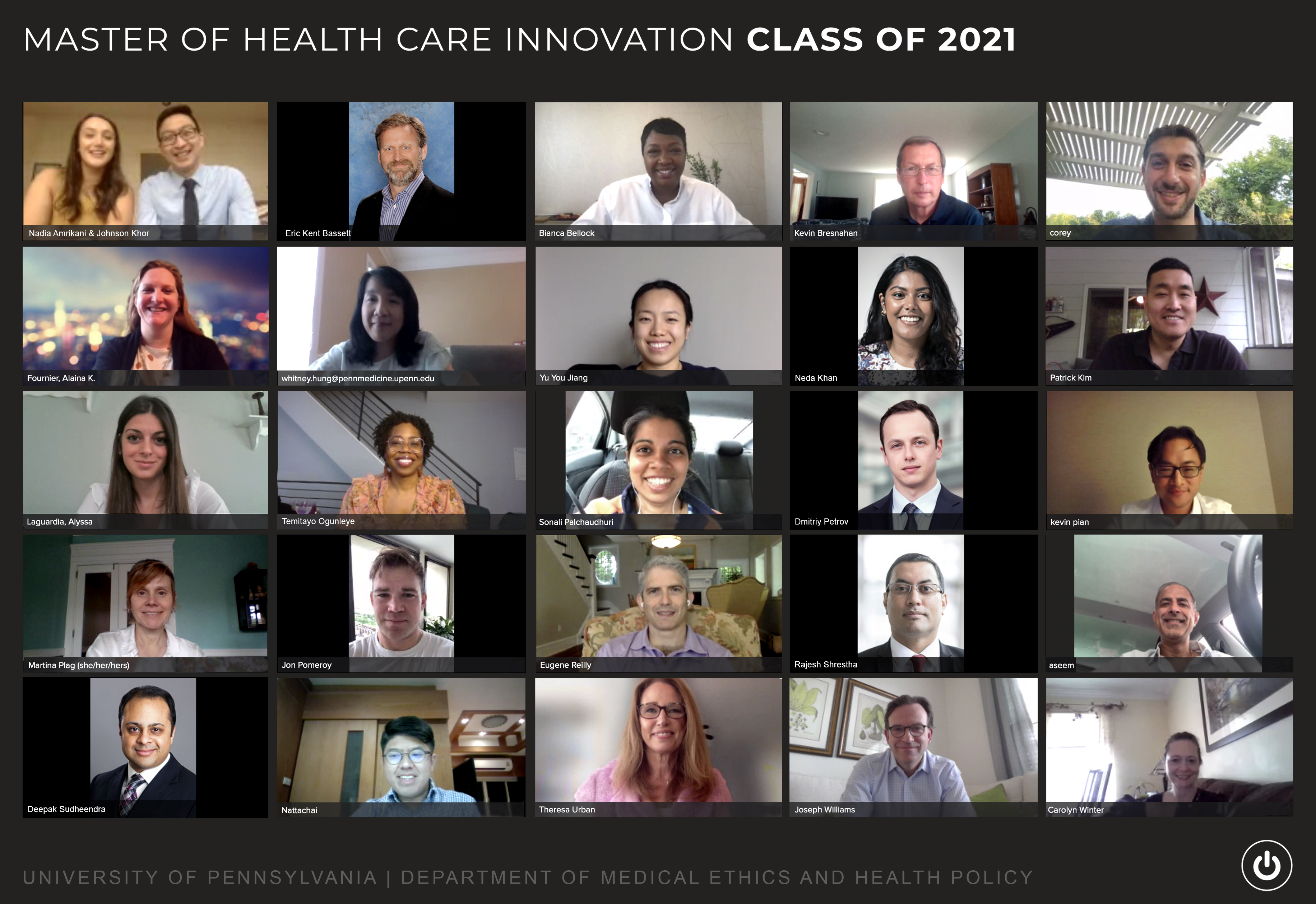 MHCI Class of 2020 Graduation Photo Screen